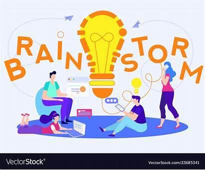 Brainstorm Team Bulb Clipart Vector Office Lamp