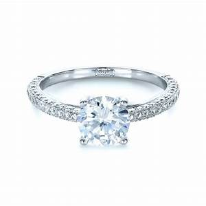 micro pave diamond engagement ring 1379 With pave diamond wedding rings
