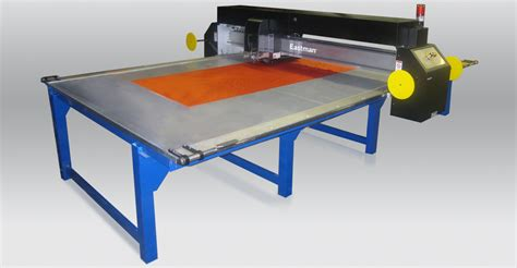 commercial fabric cutting table combi laser cutting static table eastman machine company