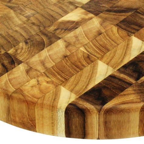 madeira mario batali teak  grain  chopping block  cutlery