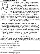 martin luther king jr enchantedlearning