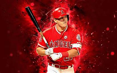 Trout Mike Baseball 4k Angels Wallpapers Center