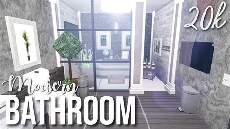 roblox bloxburg modern bathroom youtube