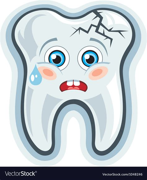 Cartoon Tooth Toothache Royalty Free Vector Image