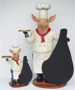 Chef Pig Statue