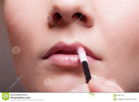lipstick moisturize glossy closeup glossy part of stock
