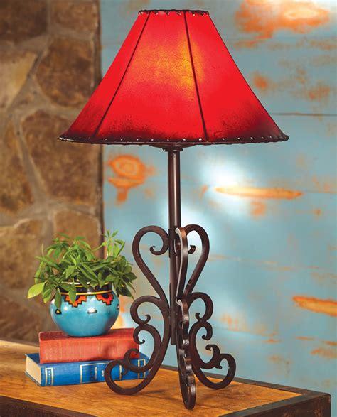 tucson iron table lamp