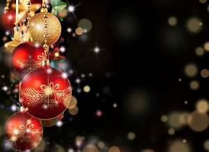 balls red gold christmas toys new year christmas dark ...