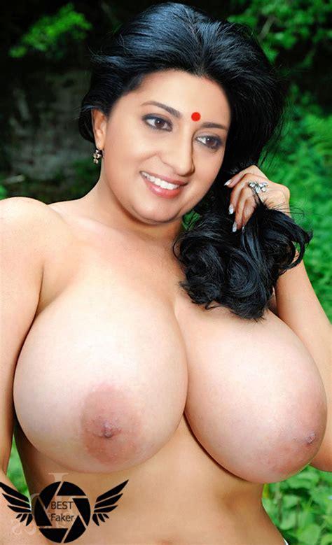 Old Actress Smriti Irani Big Boobs Nude Hd Pic Without Bra