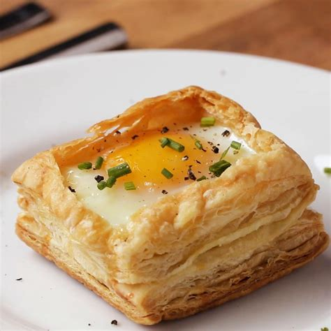 puff pastry breakfast cups recipe  tasty