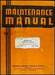 1937 Gmc Bus Yellow Coach Repair Shop Manual Original 740