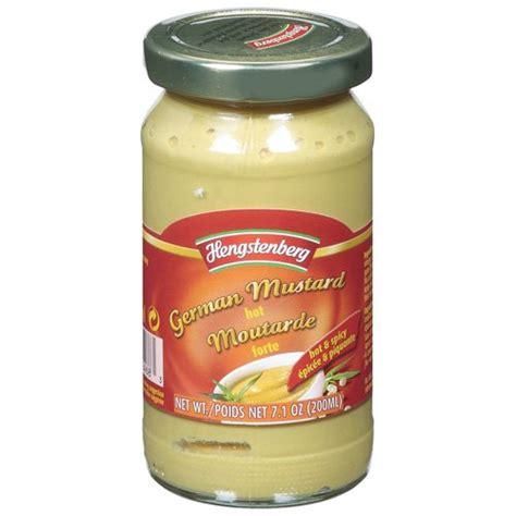 german mustard hengstenberg hot german mustard 7 1 oz condiments sauces spices walmart com