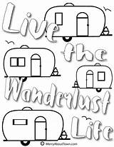Camper Retro Coloring Pages Printables Campers Printable Happy Merryabouttown Cute Quotes Trailers Cool Then Trailer Wanderlust Pop Fun Clip sketch template