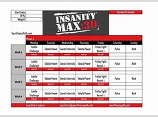Insanity Max 30 Workout Schedule EOUA Blog