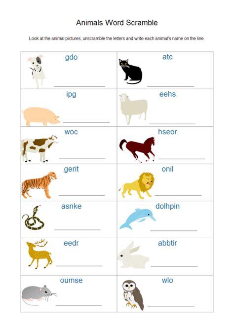 animal worksheet examples  templates