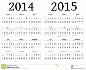 Calendar For 2014 And 2015 In Vector Stock Vector ...