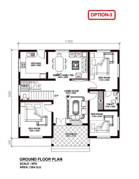 floor plans kerala style houses house plan 3 bedroom house plans in kerala image home plans design ideas ideas attractive home