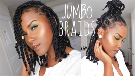 How To Do Short Chunky Jumbo Box Braid/twist On Natural