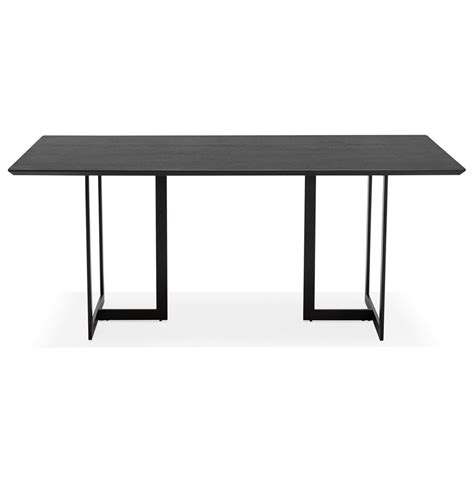 Table Bureau Design - table design titus en bois noir bureau moderne 180x90 cm