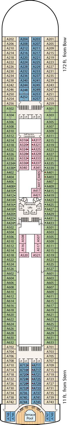 Princess Aloha Deck Plan by Princess Grand Princess Cruise Review For Cabin A315