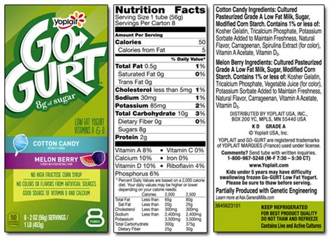 yoplait  gurt nutrition label besto blog