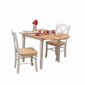 Chic Set White Painted Oak Wood Narrow Dining Tables For
