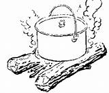 Dutch Oven Cooking Pot Campfire Recipes Coloring Bread Sketch Baking 2007 February Prepper Wheat Ovens Fun Template Eating sketch template