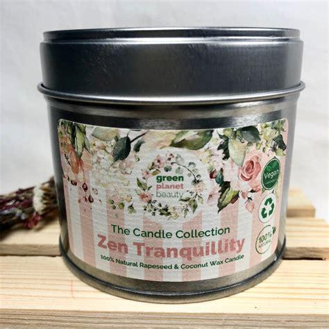 zen tranquility natural candle vegan beauty