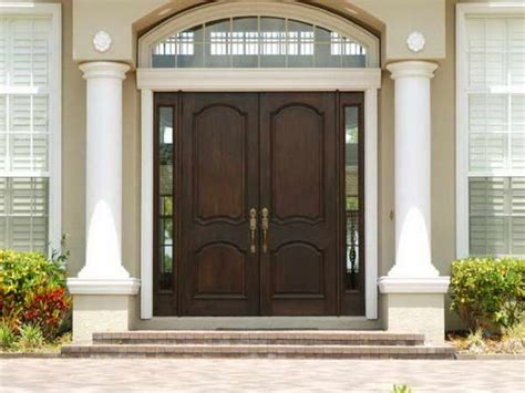 lime green stained wooden entry door with black polished
