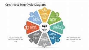 Creative 8 Step Cycle Diagram For Powerpoint
