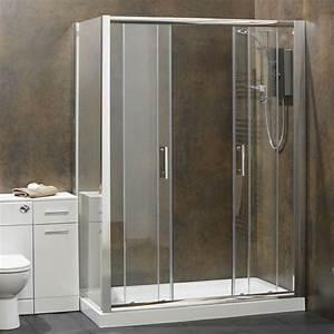 une cabine de douche integrale pour un meilleur confort With porte de douche coulissante avec papier peint salle de bain bambou