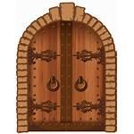 Door Clipart Wood Doors Castle Barn Windows