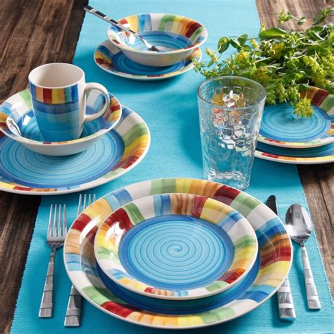 colorful dishes colorful dinnerware dining set kitchen dinner plates