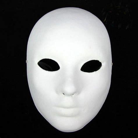 diy blank masks thicken womens full face paper pulp plain