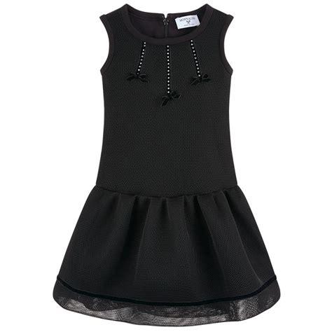 robe en maille filet avec strass monnalisa soldes robe fille melijoe ventes pas cher