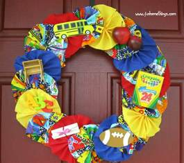 Fun Back to School Wreath