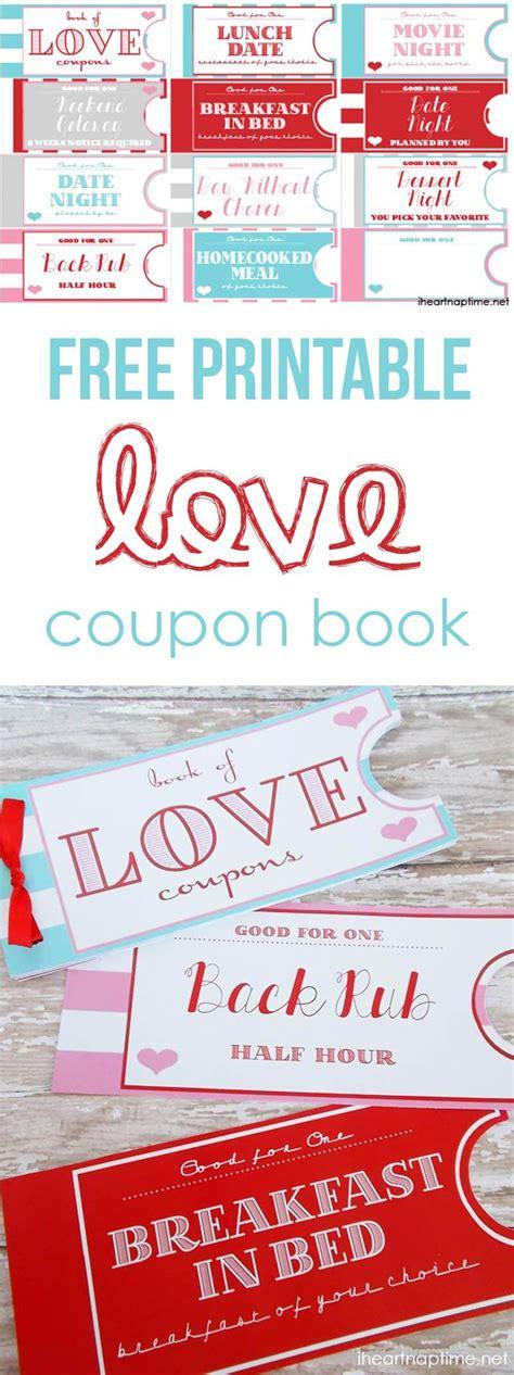 Printable Love Coupon Book  I Heart Nap Time