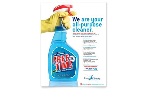House Cleaning & Housekeeping Flyer Template Design