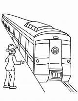 Subway Coloring Metro Passenger Train Waiting Drawing Sketch Printable Template Getdrawings Results sketch template