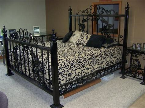 victorian wrought iron king size bed set  metalmastersinc