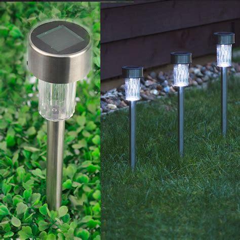 solar powered l post 10 x solar powered stainless steel led post lights garden
