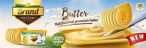 Butter advertising poster vector 03 free download