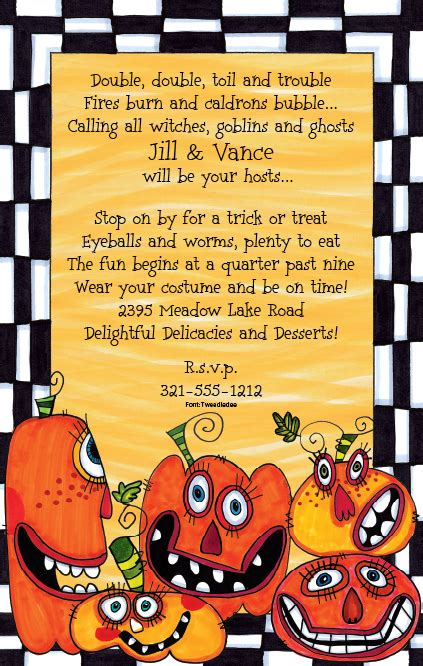 Halloween Potluck Invitation Ideas by Impressions In Print All Posts Tagged Kids Halloween