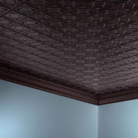 fasade traditional 4 2 x 4 pvc glue up ceiling tile at