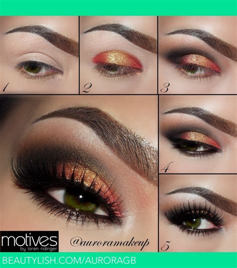 pictorial copper gold  green eyes auroramakeup