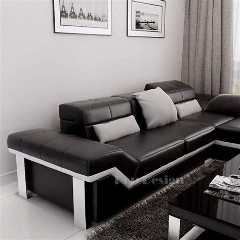 canape d angle canapé d 39 angle design en cuir torino pouf pop design fr
