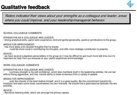 sample  degree feedback report qualitative feedback