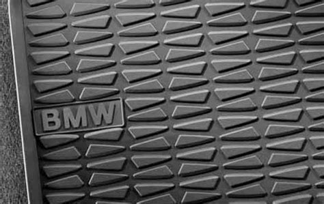 bmw x1 floor mats bmw genuine all weather rubber rear floor mats set