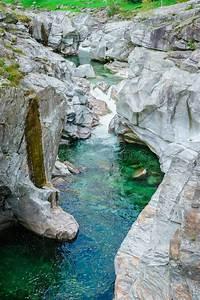 Verzasca-tal Tessin Die Schweiz Stockbild