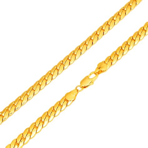 aliexpress buy new arrival 18k real gold plated new arrival mens 7mm 60cm 18k real gold plated herringbone